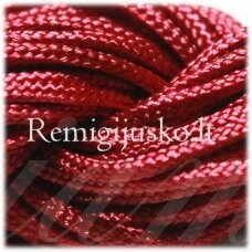 jasm0011 apie 1.5 mm, bordo spalva, satino virvutė, apyrankių pynimui, apie 12m.