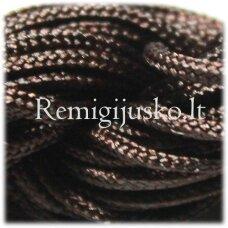 jasm0022 apie 2 mm, ruda spalva, satino virvutė, apyrankių pynimui, apie 12m.