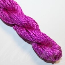 jasm0027 apie 2 mm, rožinė spalva, satino virvutė, apyrankių pynimui, apie 12m.