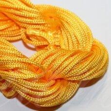 jasm0028 apie 2 mm, geltona spalva, satino virvutė, apyrankių pynimui, apie 12 m.