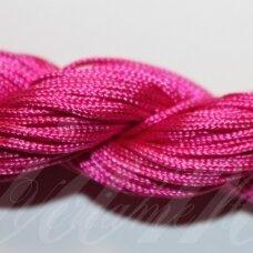 jasm0029 apie 1.5 mm, tamsi, ružava spalva, satino virvutė, apyrankių pynimui, apie 12 m.