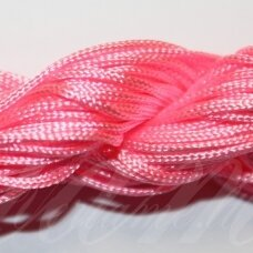 jasm0030 apie 1.5 mm, rožinė spalva, satino virvutė, apyrankių pynimui, apie 12m.