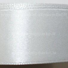 jl0001 apie 13 mm, balta spalva, atlasinė juostelė, 25 m.
