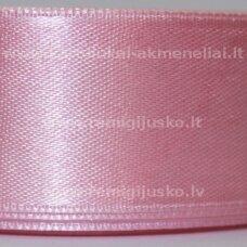 JL0002 apie 13 mm, rožinė spalva, atlasinė juostelė, 1 m.