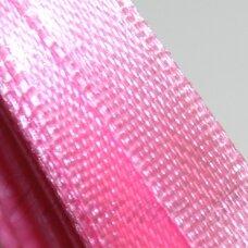 jl0005 apie 6 mm, ryški, rožinė spalva, atlasinė juostelė, 25 m.