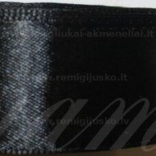 jl0110 apie 100 mm, juoda spalva, atlasinė juostelė, 1 m.