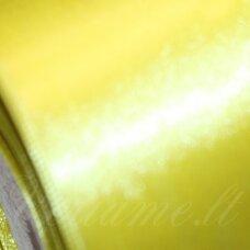jl0117 apie 50 mm, geltona spalva, atlasinė juostelė, 1 m.