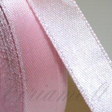 JL0503 apie 13 mm, šviesi, rožinė spalva, atlasinė juostelė, 1 m.