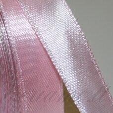 jl0504 apie 25 mm, šviesi, rožinė spalva, atlasinė juostelė, 25 m.