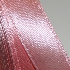 JL0505 apie 13 mm, šviesi, rožinė spalva, atlasinė juostelė, 1 m.