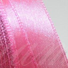 jl0508 apie 13 mm, rožinė spalva, atlasinė juostelė, 1 m.