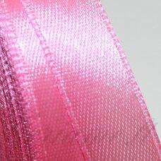 jl0508 apie 13 mm, rožinė spalva, atlasinė juostelė, 25 m.