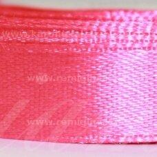 jl0509 apie 13 mm, ryški, rožinė spalva, atlasinė juostelė, 25 m.