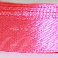 jl0509 apie 25 mm, rožinė spalva, atlasinė juostelė, 25 m.