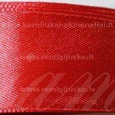 jl0515 apie 13 mm, raudona spalva, atlasinė juostelė, 25 m.