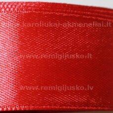 jl0515 apie 25 mm, raudona spalva, atlasinė juostelė, 25 m.