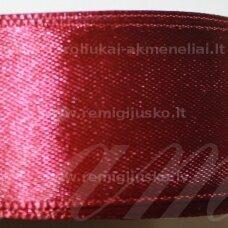 jl0519 apie 13 mm, bordo spalva, atlasinė juostelė, 25 m.