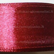 jl0519 apie 25 mm, bordo spalva, atlasinė juostelė, 25 m.