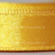 jl0526 apie 25 mm, geltona spalva, atlasinė juostelė, 1 m.