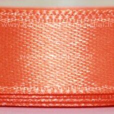 jl0532 apie 13 mm, oranžinė spalva, atlasinė juostelė, 25 m.