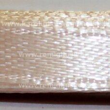 jl0533 apie 13 mm, kreminė spalva, atlasinė juostelė, 1 m.