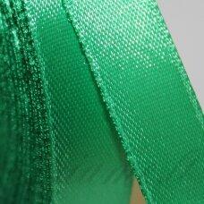 jl0548 apie 13 mm, žalia spalva, atlasinė juostelė, 25 m.
