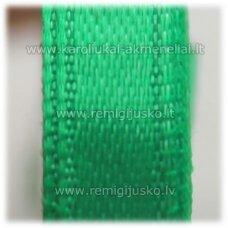 jl0555 apie 13 mm, žalia spalva, atlasinė juostelė, 25 m.
