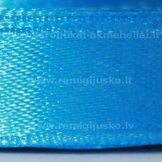 jl0570 apie 13 mm, žydra spalva, atlasinė juostelė, 25 m.