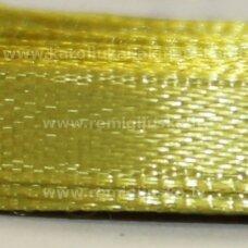 jl0610 apie 25 mm, tamsi, geltona spalva, atlasinė juostelė, 1 m.