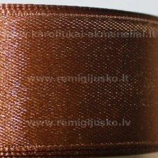 jl0619 apie 25 mm, ruda spalva, atlasinė juostelė, 1 m.