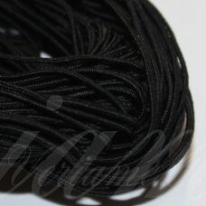 jm0001 about 1 mm, black color, gum, coated material, about 12 m.