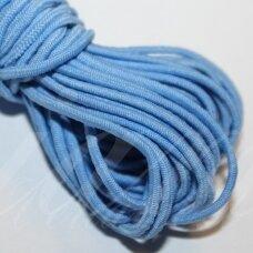 JM0007 apie 2 mm, mėlyna spalva, guma, dengta medžiaga, apie 5 m.