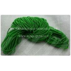 JM0166 apie 1 mm, žalia spalva, guma, dengta medžiaga, apie 12 m.