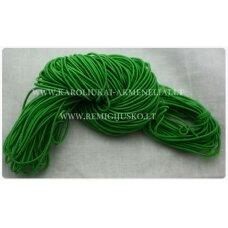 JM0166 apie 1 mm, žalia spalva, guma, dengta medžiaga, apie 16 m.