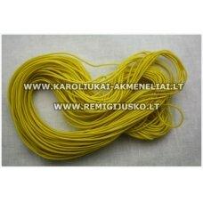 JM0174 apie 1 mm, geltona spalva, guma, dengta medžiaga, 7 m.