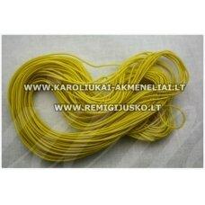 JM0174 apie 1 mm, geltona spalva, guma, dengta medžiaga, apie 16 m.