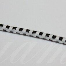 jm0177 about 2.5 mm, black color, white color, gum, coated material, 1 m.