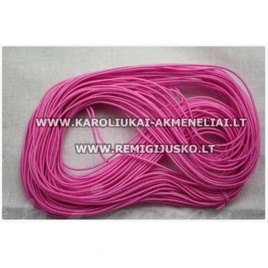 jm0169 apie 1 mm, rožinė spalva, guma, dengta medžiaga, apie 12 m.