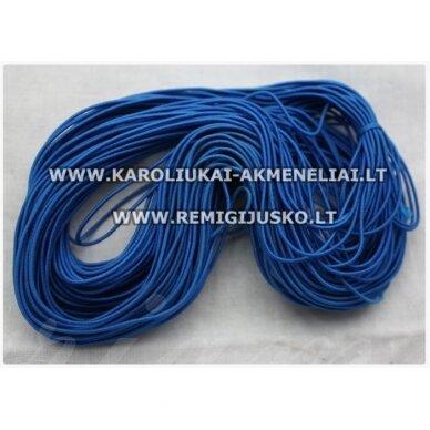 jm0172 apie 1 mm, mėlyna spalva, guma, dengta medžiaga, apie 12 m.