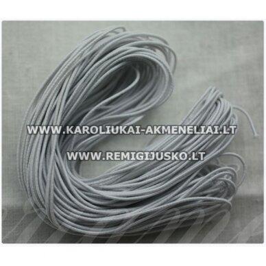 jm0173 apie 1 mm, balta spalva, guma, dengta medžiaga, apie 12 m.