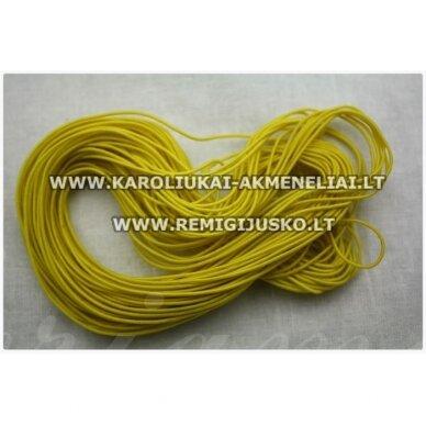 jm0174 apie 1 mm, geltona spalva, guma, dengta medžiaga, apie 12 m.