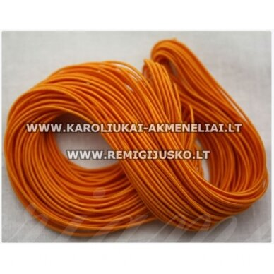 jm0175 apie 1 mm, oranžinė spalva, guma, dengta medžiaga, apie 12 m.