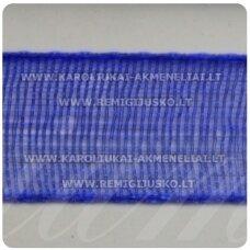 jor0008 apie 20 mm, mėlyna spalva, organzinė juostelė, 1 m.