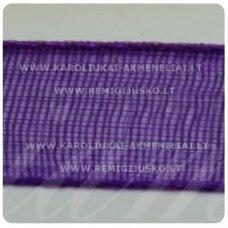 jor0011 apie 20 mm, violetinė spalva, organzinė juostelė, 1 m.