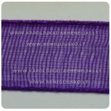 jor0011 apie 30 mm, violetinė spalva, organzinė juostelė, 1 m.