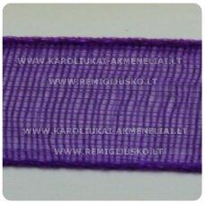 jor0011 apie 40 mm, violetinė spalva, organzinė juostelė, apie 23 m.