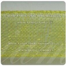 JOR0012 apie 10 mm, geltona spalva, organzinė juostelė, apie 23 m.