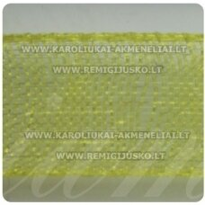 jor0012 apie 20 mm, geltona spalva, organzinė juostelė, 1 m.