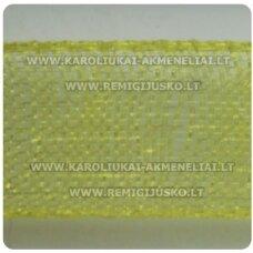 jor0012 apie 40 mm, geltona spalva, organzinė juostelė, apie 23 m.
