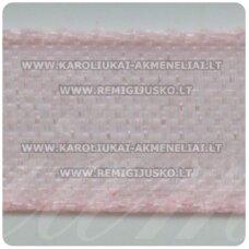 jor0014 apie 20 mm, rožinė spalva, organzinė juostelė, 1 m.